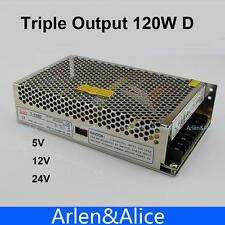120W D Triple output 5V 12V 24V Switching power supply smps AC to DC SMPS