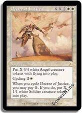 4 Decree of Justice - AUCTION White Scourge Mtg Magic Rare 4x x4