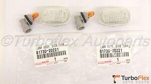 Toyota Lexus JDM Clear Side Marker Fender Light Set of 2  81730-20221