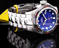 Invicta Men HYDROMAX AUTOMATIC NH35A Blue Dial Grey Bezel Silver 52mm SS Watch