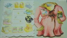 Carol Wilson Embossed Pregnancy Cards Mommy To Be & New Baby Greeting Card SET2