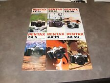 6 Vintage Pentax 35mm SLR Camera Brochures