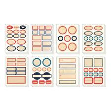 Cavallini-Lata De Decorativos Stickers-Vintage Etiquetas - 100 + Surtidos pegatinas