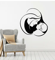 Vinyl Wall Decal Mother With Baby Cute Infant Nursery Kids Room Stickers (g1215)