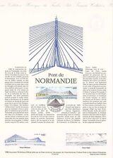 Document Philatélique Timbre 1er Jour : 20/01/ 1995 - Pont de Normandie