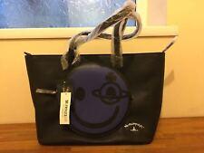 VIVIENNE WESTWOOD Blue & Black Happy Grained Tote Bag