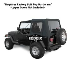 1988 1995 Jeep Wrangler Soft Top With Tinted Windows Witho Door Skins Fits 1994 Jeep Wrangler