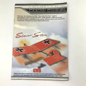 GWS Slow Stick Manual Only for RC Airplane Kit
