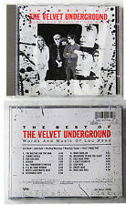 VELVET UNDERGROUND The Best Of / Words And Music Of Lou Reed ..1989 Verve CD TOP