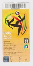 World Cup 2010 South Africa Used Ticket No. 51 England v Germany in Bloemfontein