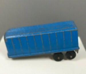 Vintage TootsieToy Blue Diecast Metal Semi Trailer