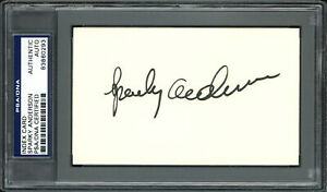 Sparky Anderson Autographed Signed 3x5 Index Card Reds, Tigers PSA/DNA #83860293