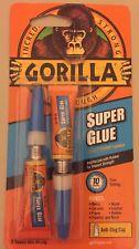 Gorilla Super Glue Pack (2 x 3g Tubes) Bonding Ceramic Leather Metal Rubber