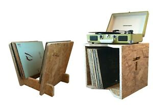 """Vinyl Record Stroage Display Rack & Box Combo Holds up to 140 x 12"""" LP's"""