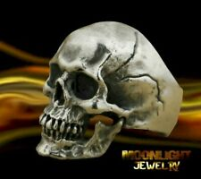 New Skull Grim Reaper Head Mens Gothic Biker Ring