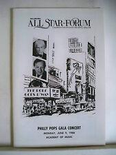 JULE STYNE Playbill PETER NERO / JOSE FERRER / DOLORES GRAY / JULIE WILSON 1986