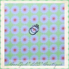 BonEful FABRIC FQ Cotton Quilt Green Pink White Dot Flower Baby Girl Doll Dress