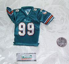 MIAMI DOLPHINS MINI FB JERSEY FITS GIRL MONSTER HIGH & SKIPPER & FRANCIE DOLLS