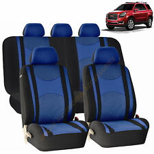 BLUE AIRBAG & SPLIT Bench SEAT COVERS 9pc SET for GMC ACADIA SIERRA