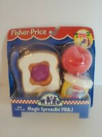 FISHER PRICE FUN WITH FOOD PEANUT BUTTER & JELLY+COOL PB & J MEAL VINTAGE 1998