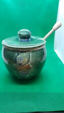 Winnie The Pooh Art Pottery Honey Pot With Stick Never Used