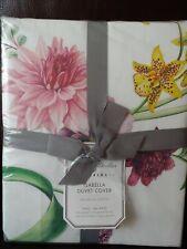 POTTERY BARN Monique Lhuillier Isabella Organic Full Queen Duvet Cover Floral