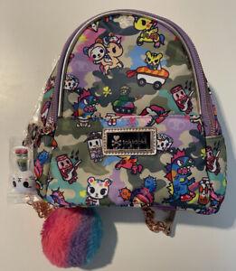 Tokidoki Camo Kawaii Mini Backpack with Accessories (NEW)