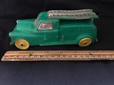 """VINTAGE MADE IN USA TOY 7"""" AUBURN TELEPHONE CO RUBBER LADDER TRUCK"""