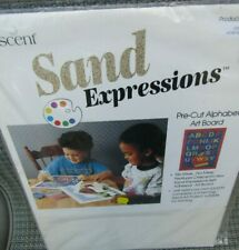 Cescent Sand Expressions Pre-Cut Alphabet Art Board New/Sealed