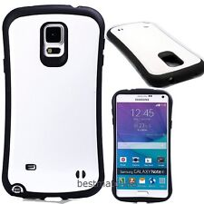for samsung galaxy note 4 case cover skin hybrid rugged shockproof black white