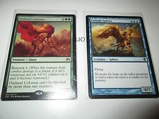 "Magic the Gathering Cards Duo ""Outland Colossus"" and ""Goliath Sphinx"""