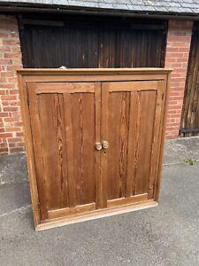 Old Pine Thin Kitchen Cupboard.