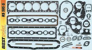 GMC 228 236 248 270 1939-62 Full Engine Gasket Set/Kit BEST Head+Intake+Oil Pan
