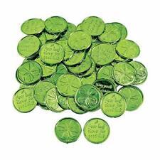 Fun Express Plastic 4-Leaf Clover Good Luck Coins for St. Original Version