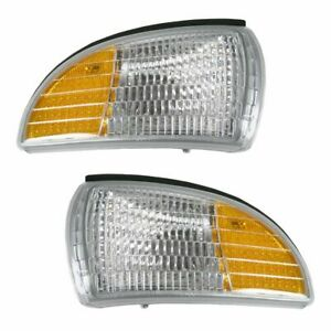 Front Side Marker Corner Turn Signal Light Lamp Pair Set for Caprice Impala