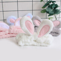 Women Cute Bunny Ear Makeup Headbands Girls Makeup Hair Bands Hair Tie Head Wrap