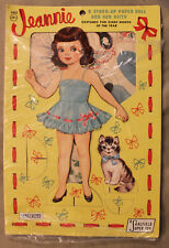 Original 1960s Saalfield Jeannie Stand-Up Paper Doll and her Kitty