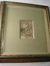 "Original Pierre Renoir Etching Le Chapeau Epingle. ""Two Girls"" Framed"
