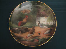ROOSTER collector plate ON THE FARM Adolf Lohmann chickens ducks KAISER
