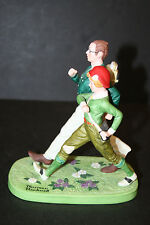 """The 12 Norman Rockwell Porcelain Figurines Series Ii """"Spring"""""""