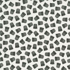 RJR Red by Alex Anderson 2137 002 Black Thimbles   Cotton Fabric