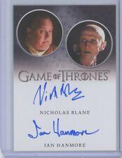 Rittenhouse Game of Thrones Season 8 Nicholas Blane Ian Hanmore DUAL AUTOGRAPH