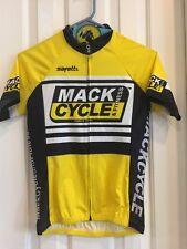 New Safetti Cycling Jersey Shirt Woman's Yellow Black & White XS Mack Cycle