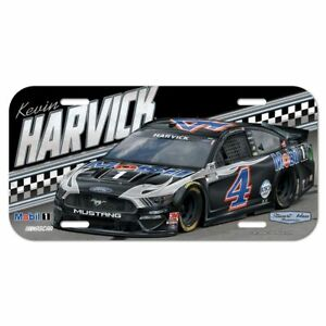Kevin Harvick 2021 Wincraft #4 Mobil 1 Poly License Plate FREE SHIP!
