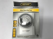 Defiant 15 Amp 24-Hour Indoor Plug-In Heavy-Duty Mechanical Timer