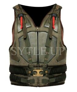 Bane Dark Knight Rises Military Tactical Tom Hardy Costume Faux Leather Vest