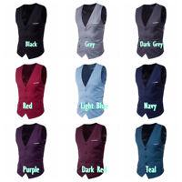 Men Slim Business Gilet Vest Sleeveless Blazer Jacket Formal Waistcoat Tops Cool