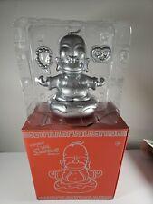"Kidrobot x The Simpsons 7"" Silver Homer Buddha Vinyl Figure Collectable Art"