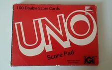 VINTAGE 1978 Official UNO Game SCORE PAD 100 DOUBLE-Sided Score Cards unused!
