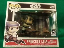 "Disney "" POP!  STARWARS PRINCESS LEA with speed bike"" #228   Bobblehead NEWinBOX"